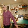Allegra Boverman/Cape Ann Magazine. Peggy Flavin of Annisquam, in her dollmaking studio.