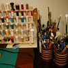 Allegra Boverman/Cape Ann Magazine. Peggy Flavin of Annisquam recreates dolls from the past. This is part of her studio.