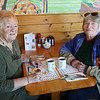 HADLEY GREEN/ Staff photo<br /> Peg Gauthier, left, and Diana Lang, both of Wenham, attend SeniorCare's annual autumn fundraising breakfast at Lobsta Land Restaurant in Gloucester. <br /> <br /> <br /> <br /> 10/16/2018