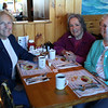 HADLEY GREEN/ Staff photo<br /> <br /> From left, Marilyn Beard of Gloucester, Faye Brophy of Essex and Judy Porter of Beverly attend SeniorCare's annual autumn fundraising breakfast at Lobsta Land Restaurant in Gloucester. <br /> <br /> <br /> <br /> 10/16/2018