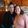 HADLEY GREEN/ Staff photo<br /> <br /> Rachel Lopez, left, of Beverly and Melissa Braga of Tewksbury attend SeniorCare's annual autumn fundraising breakfast at Lobsta Land Restaurant in Gloucester. <br /> <br /> <br /> <br /> 10/16/2018