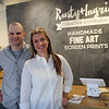 HADLEY GREEN/Staff photo<br /> Rusty and Ingrid Kinnunen stand in their store and studio in Rockport.<br /> <br /> 01/27/18