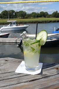 A signature cocktail at Shea's Riverside in Essex.  Photo by Bryan Eaton