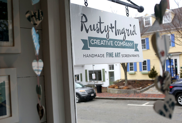 HADLEY GREEN/Staff photo<br /> Rusty and Ingrid Creative Company has a storefront on Main Street in Rockport. <br /> <br /> 01/27/18