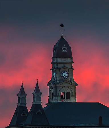 Gloucester City Hall at sunset.<br /> Photo by Desi Smith.