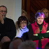 Desi Smith Photo.      Visitors listen intensely to words spoken by the readings by local authors and others from the arts community to reaffirm commitment to the First Amendment and the freedoms of Democracy at the Rocky Neck Cultural Center Sunday afternoon.     January 15,2017