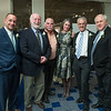 Desi Smith Photo.    From left to right, past chamber presidents Matt Anzivino, Bill Scott, Jon Lawrence, New Chamber President Sara Young, Bob Gillis, Brad Pierce at the Chamber Dinner Dance held at the Beauport Hotel.