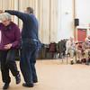 SAM GORESH/Staff photo. Betty Kennie and Sam Calomo dance to the Good Old Salty Jazz Band at the Rose Baker Senior Center. 1/9/17