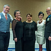 Desi Smith Photo.    From left to right,  Shawn Henry, Catherine Schlichte, Mayor Sefatia Romeo-Theken, Nicole Frontiero, Sal Frontiero at the Chamber Dinner Dance held at the Beauport Hotel.