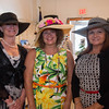 Desi Smith/Staff photo.    Tracy Gothie of Manchester, Laurie McHugh Stoneham and Debbie DiGiovanni of Manchester,attend the Manchester Essex Rotary's Kentucky Derby Party and Auction held at the American Legion Hall in Manchester Saturday night.       May 7,2016