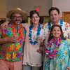 Desi Smith/Staff photo.   From left to right, Andrew and Martha Cox-Stavros and Michael and KJ Carvalho all from Manchester, attended the beach-themed Spaulding Education Fund's Winter Beach Blast on Friday, March 18,2016 at the Manchester Legion Hall in Manchester.