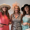 Desi Smith/Staff photo.     Courtney Bratica of Northboro, Jennifer Doane of Manchester and Leslie Polgar of Connecticut attend the Manchester Essex Rotary's Kentucky Derby Party and Auction held at the American Legion Hall in Manchester Saturday night.       May 7,2016