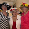 Desi Smith/Staff photo.      Debbie Maruis, Arlene Taliadoros of Essex and Jenny Taliadoros of Maine, attend the Manchester Essex Rotary's Kentucky Derby Party and Auction held at the American Legion Hall in Manchester Saturday night.       May 7,2016
