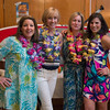 Desi Smith/Staff photo.   From left to right, KJ Carvalho, Michelle Kenny,Tracy Davis and Wendy Brady all from Manchester, all attended the beach-themed Spaulding Education Fund's Winter Beach Blast on Friday, March 18,2016 at the Manchester Legion Hall in Manchester.
