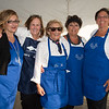 "Desi Smith Photo.   Just some of the volunteers from the Gloucester Fishermen's Wives Association that helped out to serve during the ""Sea to Supper"" community dinner to benefit the Gloucester Fishermen's Wives Association,that was held on August 25,2016 at the Waterfront Pavilion Tent at Mile Marker One Restaurant and Bar. From left to right are, Maria Cannavo, Marcia O'Brien, Selma Bell, Kathleen Santuccio and Karen Cunhathe all from Gloucester."