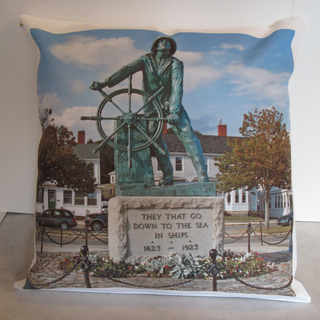 GAIL McCARTHY/Staff photo<br /> Pillow from premier imprints