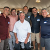 "Desi Smith Photo.    From left to right Gloucester fishermen, Joe Randazzo,Mark Ring, John Sanfilippo,Vince Taormina, Al Cottone and Joe Orlando all attended the ""Sea to Supper"" community dinner to benefit the Gloucester Fishermen's Wives Association held on August 25,2016 at the Waterfront Pavilion Tent at Mile Marker One Restaurant and Bar."
