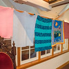 Desi Smith Photo.  Blankets donated by voluteers were on display at Middle Street Trinity Congregational Church Sunday morning. There is a local chapter of the Linus Project, that has been in service for 8 years. A group of local volunteers meet monthly, to work on creating blankets that are then donated to sick children by the Linus Project. September 18,2016