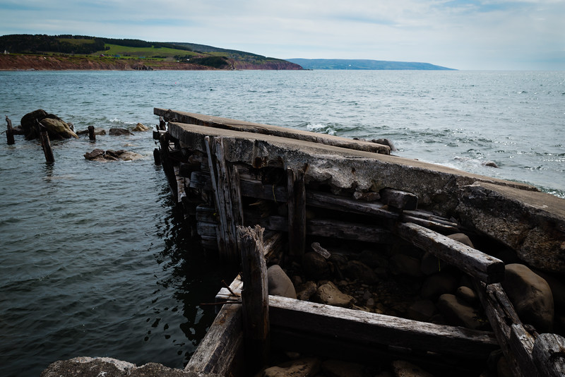 Decaying wharf in Mabou, NS