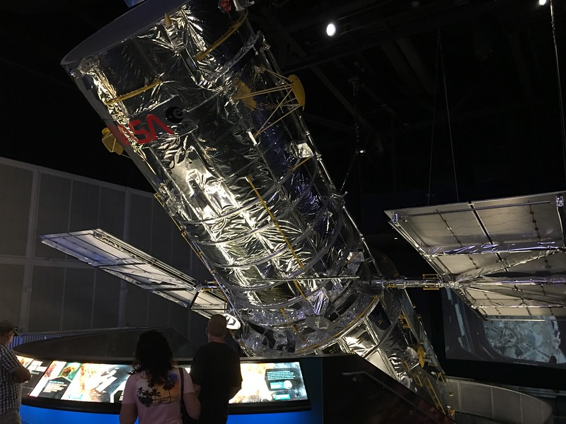 A full size model of the Hubble space telescope.  Wow!  That's big!