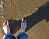My feet at Race Point Beach