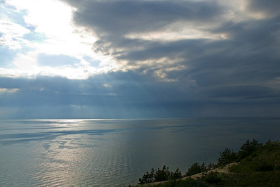 sunburst over Cape Cod Bay