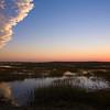 sunset over Pamet marshes
