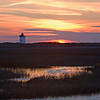 Wood End Lighthouse winter sunset