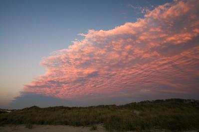 Corn Hill Beach w sunset clouds