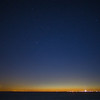 stars moon & Jupiter over Ptown & Cape Cod Bay