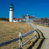 split rail fence leading to Highland Light