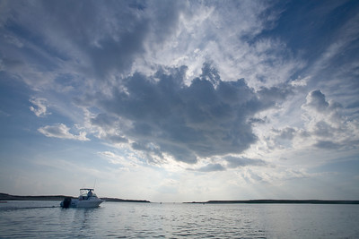 boat in Pamet Harbor channel