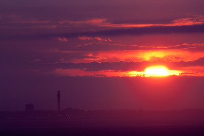 fuschia sunset over Provincetown
