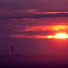 fuschia sunset over Provincetown