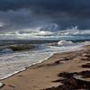 crashing waves high tide