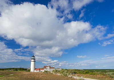 cumulus clouds over Highland Light