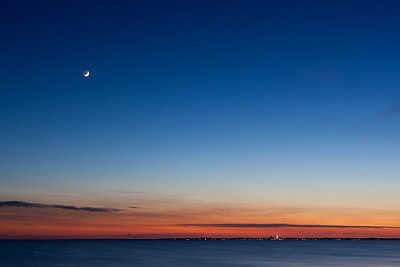 earthshine over Provincetown