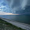 storm clouds over Cape Cod Bay