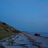 pickup on Corn Hill beach twilight