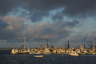 Ptown Harbor sunset cloudy sky