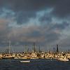 Ptown Harbor sunset cloudy sky