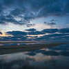sinuous sandbar Herring Cove Beach dusk