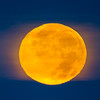 orange moon royal blue sky