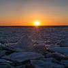 cracked ice Cape Cod Bay sunset