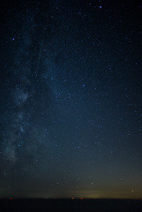 Perseid shooting star & Milky Way