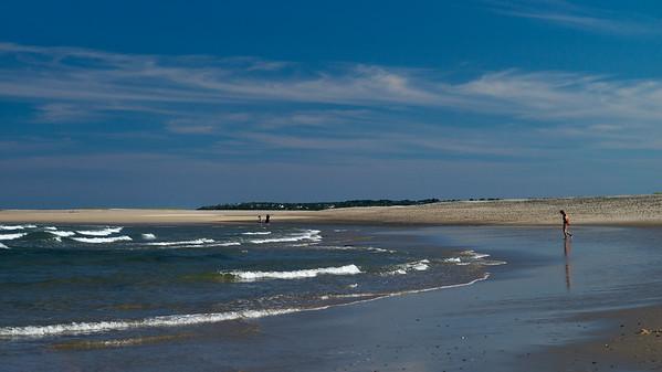 bathers on Nauset Beach