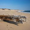 rusty shipwreck beam on Herring Cove Beach