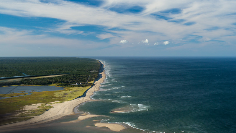 Eastham Atlantic coast from the air