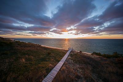 autumn sunburst over Cape Cod Bay