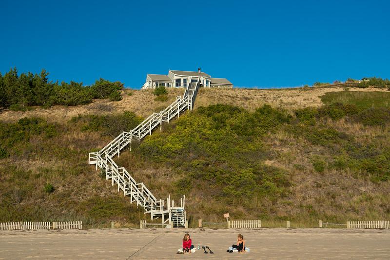 Rebecca and Danielle on Corn Hill Beach